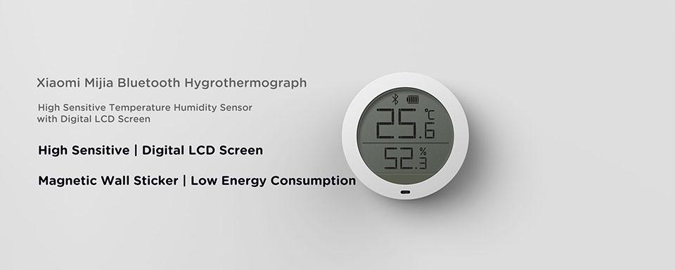 Xiaomi Mijia Bluetooth hygrothermographe haute sensibilité hygromètre thermomètre écran LCD Smart Home température capteur d'humidité