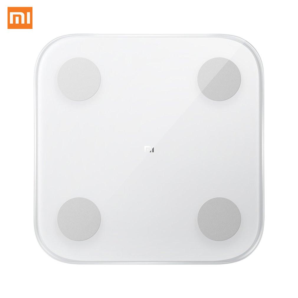 Original Xiaomi intelligent graisse corporelle Composition échelle 2 Bluetooth 5.0 Balance Test 13 Date du corps imc santé poids échelle LED affichage