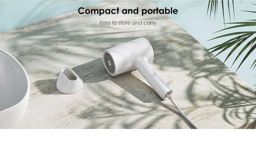 Original Xiaomi mijia 1800W eau Ion sèche-cheveux électrique professionnel sèche-cheveux Portable sèche-cheveux maison voyage à faible bruit