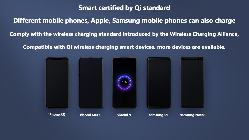 Xiao mi batterie externe sans fil 10000mAh Qi chargeur rapide sans fil USB type C mi Powerbank PLM11ZM Portable charge batterie externe