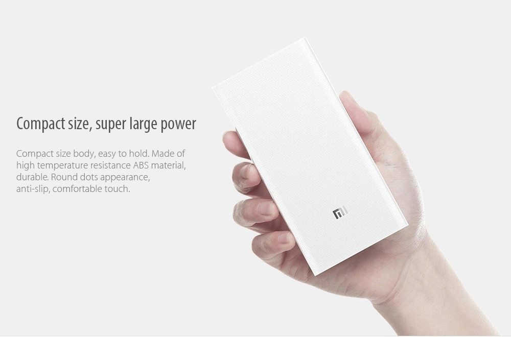 D'origine 20000mAh batterie externe de xiaomi 2C 2 voies Charge Rapide QC3.0 mi Powerbank Double Ports USB Batterie Externe pour Appareil Intelligent