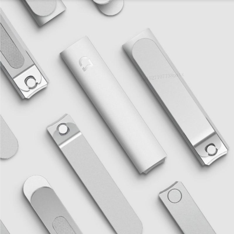 Xiaomi Mijia coupe-ongles en acier inoxydable avec couverture anti-éclaboussures tondeuse pédicure soins coupe-ongles fichier professionnel