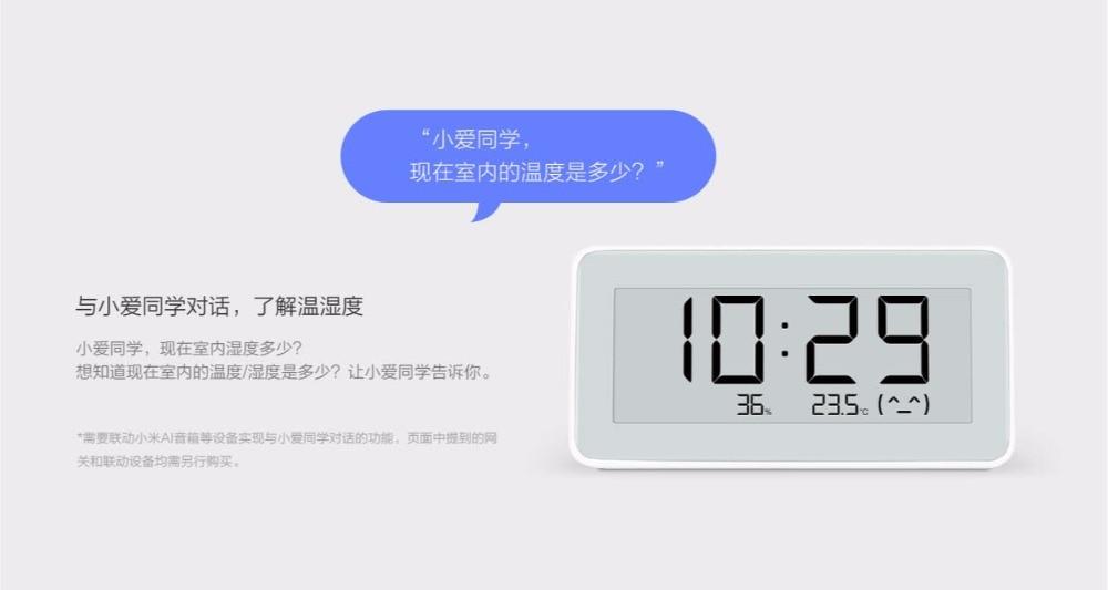 Xiaomi Mijia BT4.0 horloge numérique électrique intelligente sans fil hygromètre intérieur et extérieur thermomètre LCD mesure de température