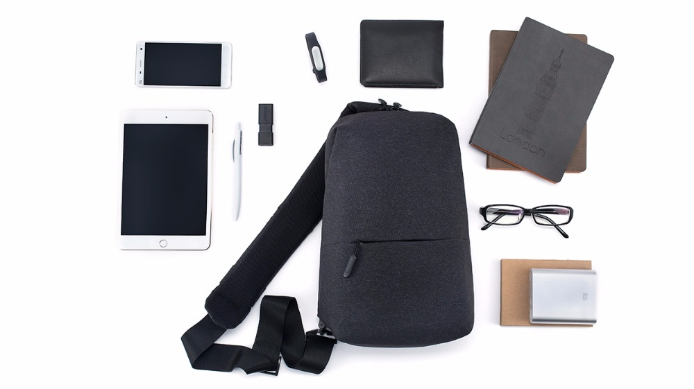 Original Xiao mi Pack de poitrine sacs 4L Polyester sac urbain loisirs sport mi sac à dos hommes femmes épaule unisexe sac à dos sac à bandoulière