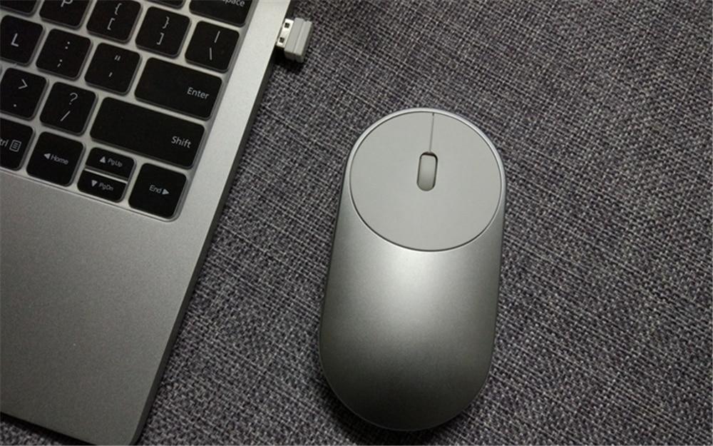 Xiaomi souris Portable sans fil 1200dpi 2.4Ghz Mini souris de jeu Bluetooth en alliage d'aluminium pour ordinateur Portable Macbook