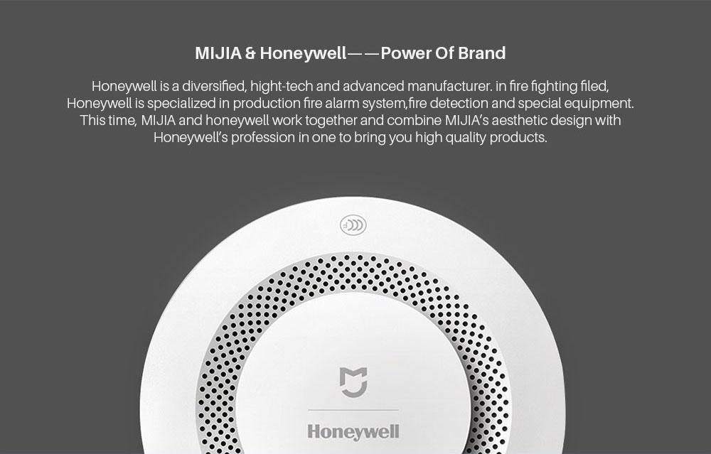 Xiao mi jia Honeywell alarme incendie détecteur de fumée capteur sonore alarme visuelle remarque travail avec mi Home APP par téléphone