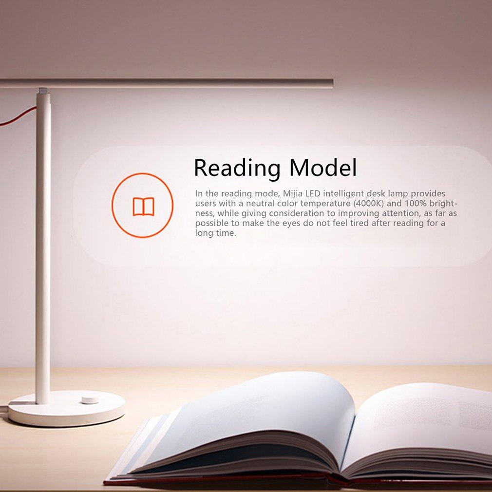 Original Xiao mi jia mi LED intelligente lampe de bureau lampe de Table Dim mi ng liseuse WiFi Enab LED travailler avec Alexa mi maison APP 100-240V