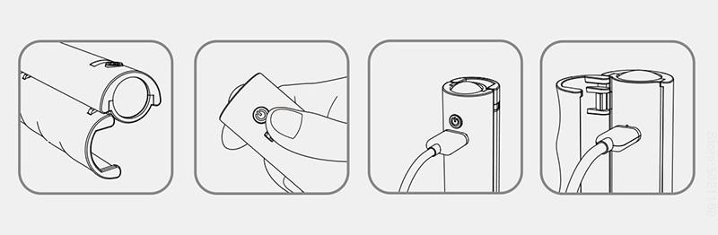 XIAOMI MIJIA lampe de poche LED ULlife Portable poignée d'alimentation mobile 4 en 1 multi-fonction éclairage extérieur torche USB charge
