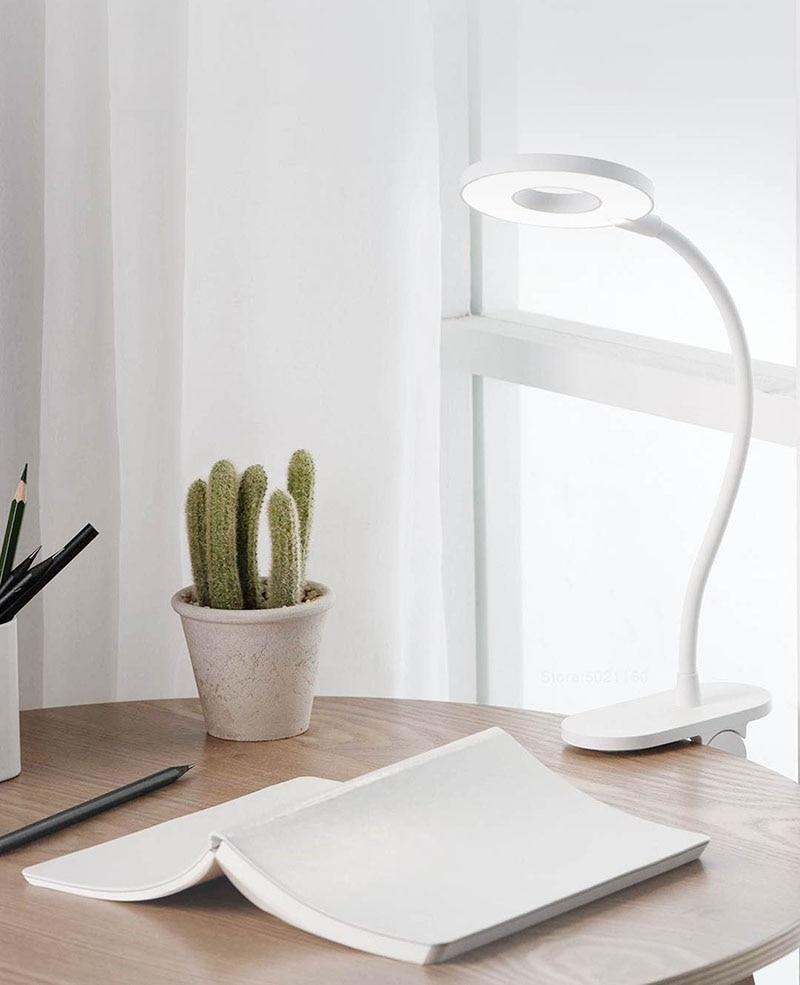 XIAOMI MIJIA lampe de Table clipsable Yeelight LED lecture lampe de bureau étude lampe de table Portable pliant chevet veilleuse USB charge