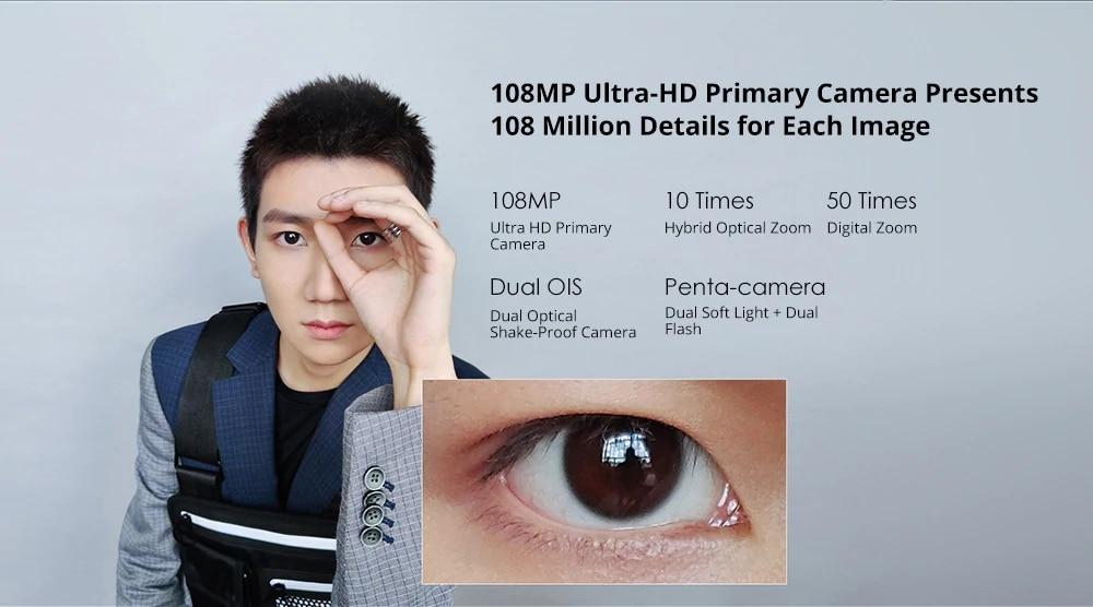 Version mondiale Xiaomi Mi Note 10 6GB RAM 128GB ROM Smartphone 5260mAh batterie 108MP caméra arrière Charge rapide téléphone intelligent