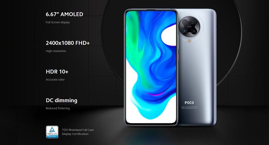 Xiaomi Poco F2 Pro 5G 6GB 128GB Snapdragon 865 Version globale NFC Smartphone 6.67 AMOLED affichage téléphone portable 30W charge rapide
